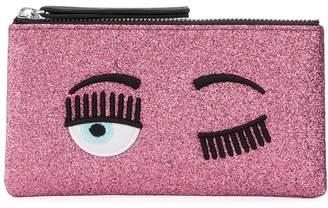 Chiara Ferragni flirting zip-top wallet