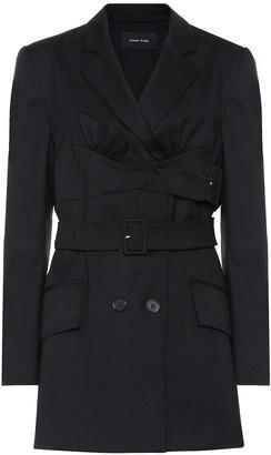 Simone Rocha Belted stretch-wool jacket