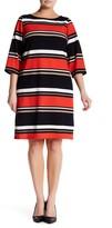 Sandra Darren Striped Knit Sheath Dress (Plus Size)