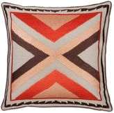 Aura Arrow 20-Inch Square Throw Pillow in Orange