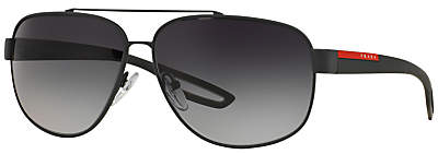 Prada Linea Rossa PS58QS Polarised Rectangular Sunglasses
