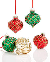 Holiday Lane Set of 5 Glass Ornaments, Created for Macy's