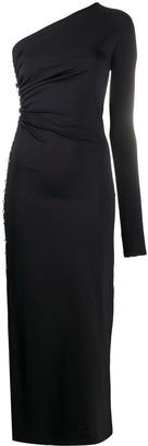 MARCIA Asymmetric Fitted Maxi Dress