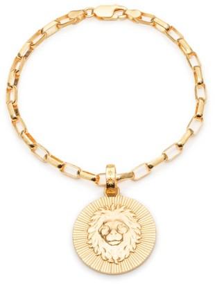 Rachel Jackson London Statement Zodiac Art Coin Leo Bracelet Gold