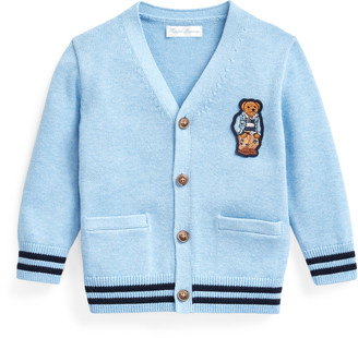 Ralph Lauren Bear-Patch Cotton Cardigan