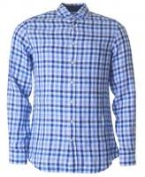Hackett Tobago Checked Long Sleeved Linen Shirt