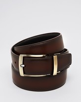 Bloomingdale's The Men's Store at Reversible Burnished Edge Buckle Leather Belt