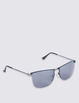 M&s Collection Reverse Groove Rimless Sunglasses