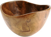 "Bahari TEAK WOOD ""CURVED LIP"" LARGE BOWL, 12x7""h"