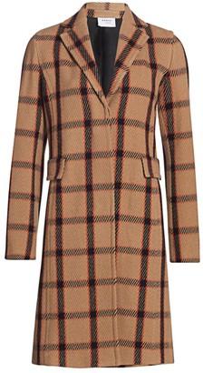 Akris Punto Wool-Blend Plaid Long Blazer Coat