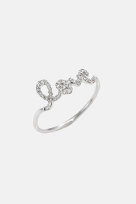 Sydney Evan Pave Diamond Love Ring