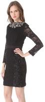 Vera Wang collection Long Sleeve Shift Dress