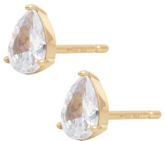Wanderlust + Co Pear Topaz Gold Sterling Silver Earrings