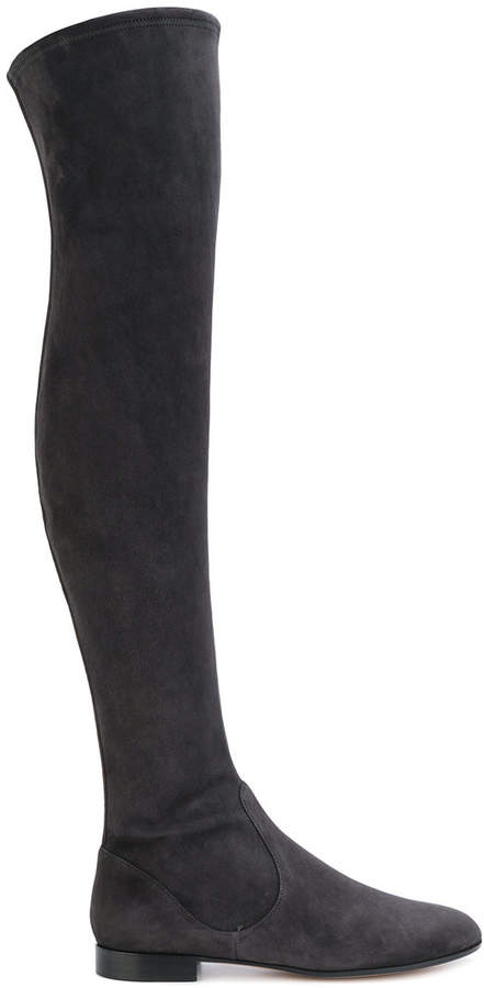 Gianvito Rossi over the knee flat boots