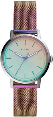 Fossil Women Neely Iridescent-Tone Stainless Steel Bracelet Mesh Watch 34mm