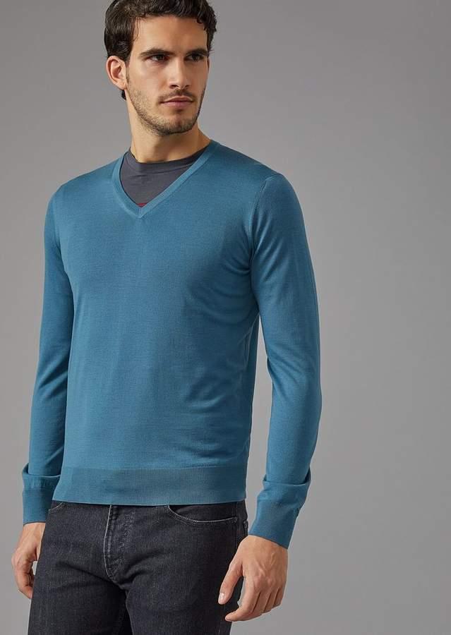 Giorgio Armani Stretch Jersey Crew Neck T-Shirt