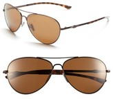 Smith Women's 'Audible - Chromapop' 60Mm Polarized Aviator Sunglasses - Matte Brown/ Polar Brown