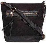 Dorothy Perkins Womens Black Zip Front Bucket Bag- Black