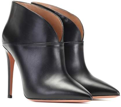 Aquazzura Inga 105 leather ankle boots