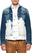 DSQUARED2 Bleached Button-Down Denim Jacket, Blue