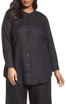 Eileen Fisher Plus Size Women's Organic Linen Shirt