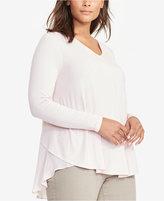 Lauren Ralph Lauren Plus Size Georgette-Back V-Back Top