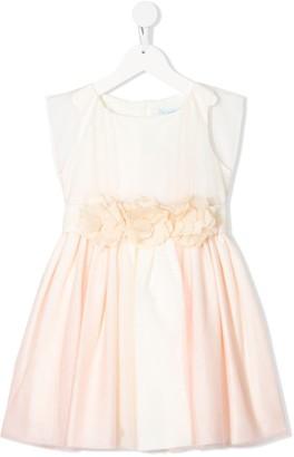 Lula Abel & sleeveless floral waistband dress