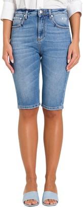 MSGM Knee-Length Skinny Denim Shorts