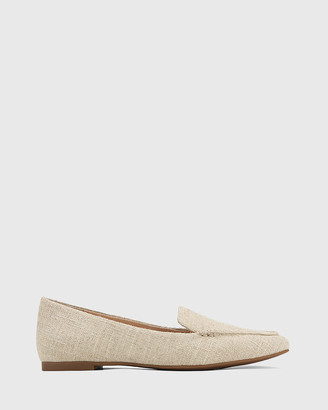 Wittner - Women's Neutrals Loafers - Pamina Linen Pointed Toe Loafers - Size One Size, 37 at The Iconic
