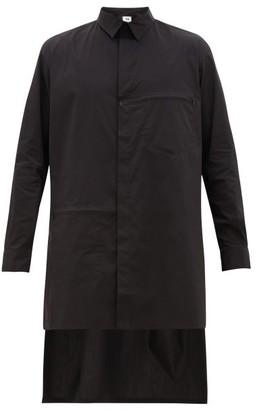 Y-3 Longline Zip-panel Cotton-blend Shirt - Black