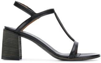 Marsèll Black Leather Sandals