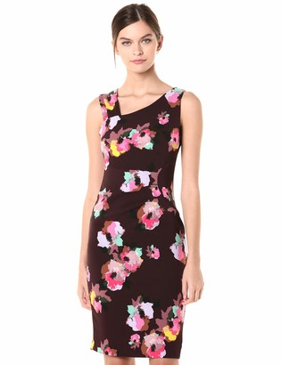 Laundry by Shelli Segal Women's Ruched Floral Printed Midi Dress