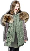 3.1 Phillip Lim Flight Vest with Zipped Fur Hood