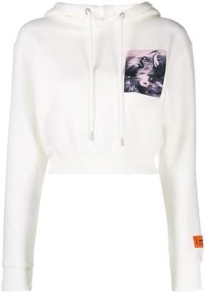 Heron Preston cropped Heron hoodie
