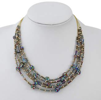Liz Claiborne Multi Color 17 Inch Bead Illusion Necklace
