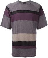 Kolor striped T-shirt - men - Cotton/Nylon/Cupro - 3