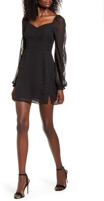Leith Sweetheart Long Sleeve Minidress