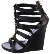 Giuseppe Zanotti Leather Cut-Out Wedges