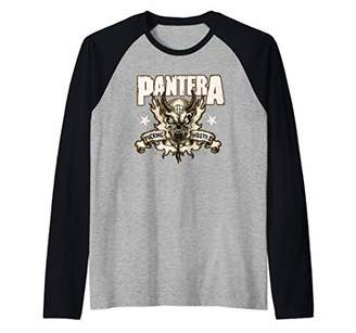 Bravado Pantera Official Hostile Skull Raglan Baseball Tee