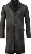 Avant Toi single-breasted coat - men - Cotton/Cashmere/Wool - S