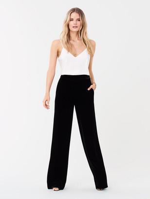 Diane von Furstenberg Georgina Velvet Wide-Leg Pants
