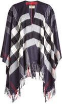 Burberry Printed Cashmere and Merino Wool Poncho