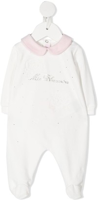 Miss Blumarine Rhinestone Logo Pajamas