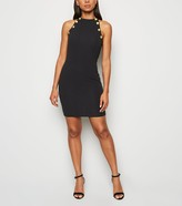 New Look AX Paris Button Trim Bodycon Dress