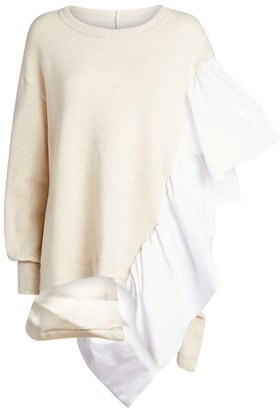 Yohji Yamamoto Frill-Trim Sweatshirt