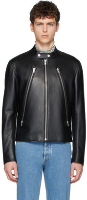 Maison Margiela Black Leather Sports Jacket
