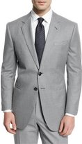 Giorgio Armani Taylor Mod-Houndstooth Wool Sport Coat, Light Gray