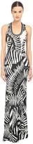 Just Cavalli Kraken Print Sleeveless Maxi Jersey Dress