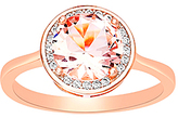 Bliss Pink Cubic Zirconia & Two-Tone Halo Ring