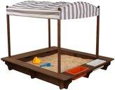 Kid Kraft Cabana Sandbox Toy, Gray/White Stripes